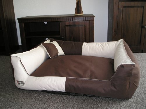 toppa dog sofa bed 105 x 80 cm beige brown