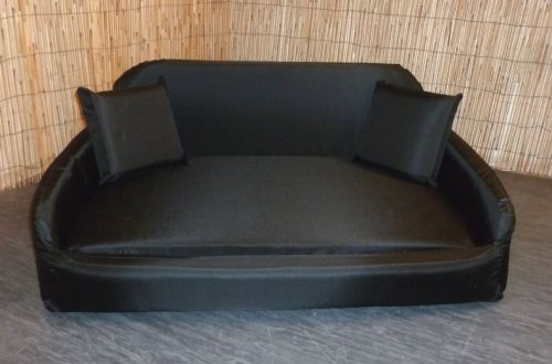Zippy Pet Dog Bed - Waterproof Wipe Clean Sofa - Large - Black