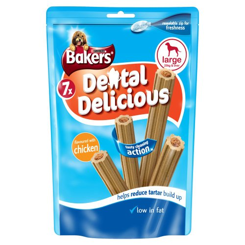 Bakers Dental Delicious Chicken for Large Dogs 270 g, Pack of 6