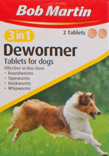 Bob Martin 3 in 1 Dewormer Tablets for Dogs - 2 Tablets