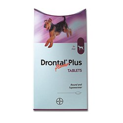 Drontal Plus for Dogs Flavoured Worming Tablet Packs (Pack Size: 8 Tablets)