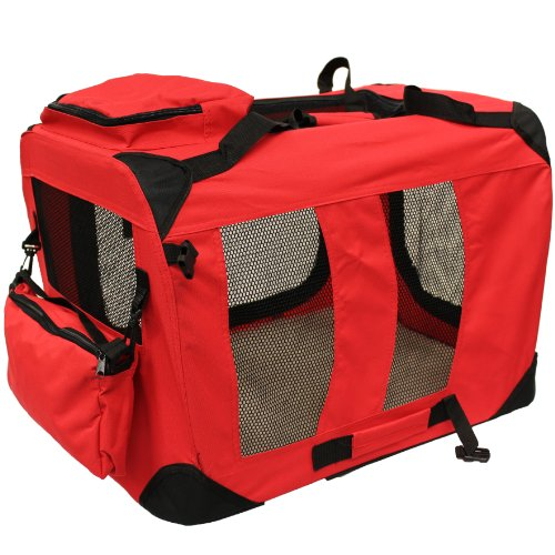 Mool Lightweight Fabric Pet Carrier Crate With Fleece Mat