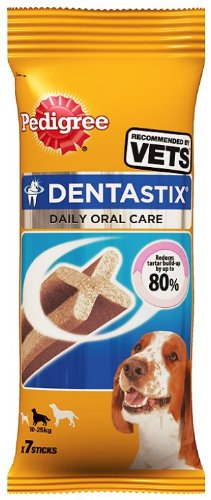 Pedigree DentaStix Dog Chews Medium Dog (Pack of 10, Total 70 Sticks)