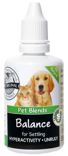 Pet Remedy for Highly Strung, Over Excitable, Frisky, Unruly and Training Animals. To Naturally Calm Dogs, Cats and Horses. The Original Animal Balance Blend Flower Essence 50ml