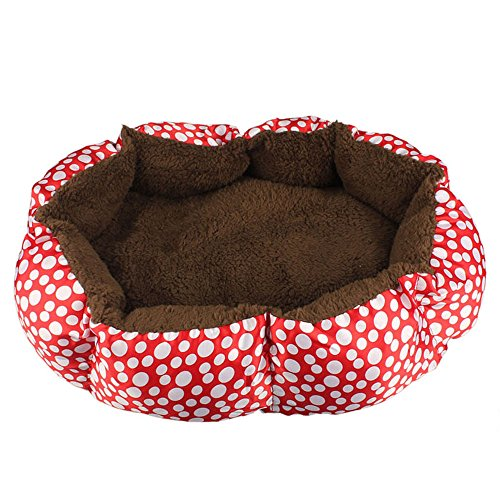Bocideal(TM) New Style Soft Fleece Pet Dog Puppy Cat Warm Bed House Plush Cozy Nest Mat Pad (Red)