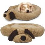 Me-My-Head-Tail-Luxury-Soft-Fleece-Pet-Bed-BrownBeige-0