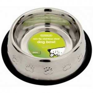 Gardman Medium Non-Tip Stainless Steel Dog Bowl