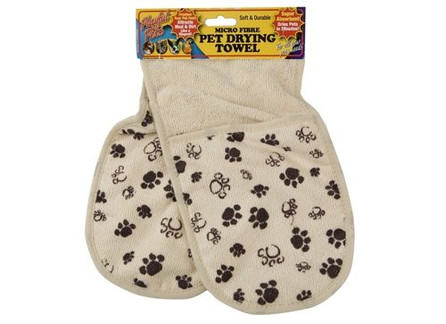 Small Medium Size Dog Puppy Pet Micro Fibre Drying Towel Gloves Super Absorbent