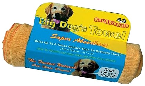 SnuggleSafe Micro Fibre Dog Pet Towel, Big