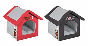 Luxury Padded Indoor Lightweight Dog House - 2 Colour and Sizes Available