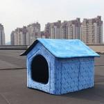 Pet-Dog-House-Large-Dog-Bed-Cat-Bed-Pet-nest-Dog-kennel-Soft-Blue-Two-Size-0