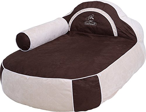 knuffelwuff dog bed with head part and armrest hundebett. Black Bedroom Furniture Sets. Home Design Ideas