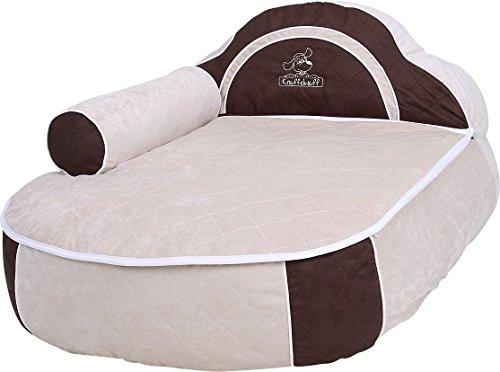 dog bed with head part and armrest hundebett xl / xxl 100 x 72cm