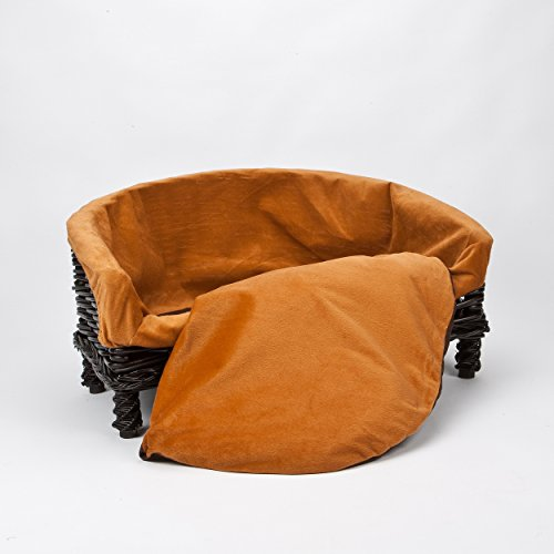 Fine Luxurious Premium Wicker Pet Dog Sofa Bed With Cushion Small Medium Large Sizes Andrewgaddart Wooden Chair Designs For Living Room Andrewgaddartcom