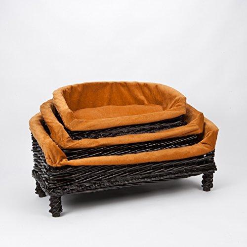 Luxurious Premium Wicker Pet Dog Sofa Bed With Cushion Small Medium Large Sizes