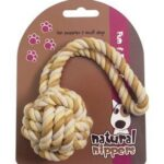 Natural Nippers Tuff Rope Ball Puppy Toy
