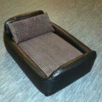 Zippy-Faux-Leather-Divan-Pet-Dog-Bed-Medium-Black-Brown-Jumbo-Cord-0