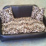Zippy-Faux-Leather-Sofa-Pet-Dog-Bed-Large-BrownLeopard-0
