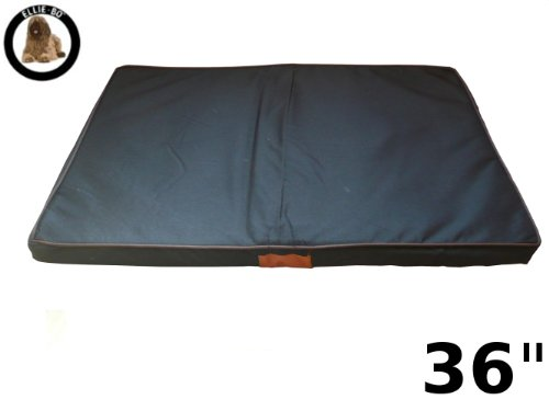 Ellie-Bo Black Waterproof Memory Foam Orthopaedic Dog Bed for Dog Cage/ Crate Large 36-inch