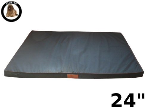 Ellie-Bo Black Waterproof Memory Foam Orthopaedic Dog Bed for Dog Cage/ Crate Small 24-inch