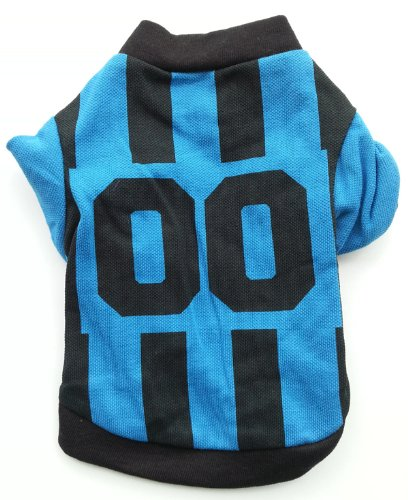 Blue and Black Dog Football T-Shirt - 4 Sizes