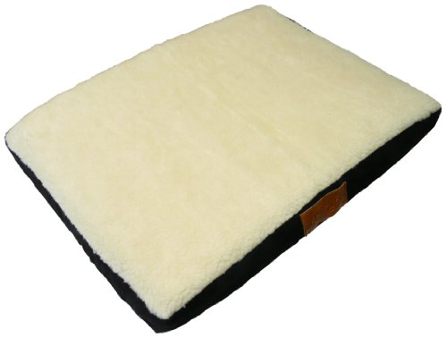 Ellie-Bo Memory Foam Orthopedic Dog Bed with Faux Suede and Sheepskin Topping for Dog Cage/ Crate Small 24-inch