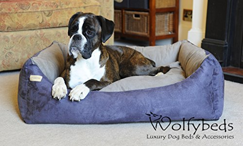 Luxury Faux Suede Dog Bed