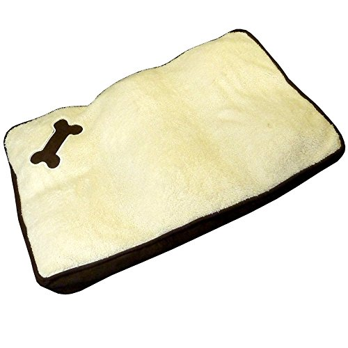 MEMORY FOAM PET DOG BED - SUPER SOFT - MACHINE WASHABLE - PET BED WITH BONE DESIGN - IT GIVES YOUR PET THE COMFORT IT DESERVES - THIS BED SUPPORTS YOUR PET'S JOINTS AND KEEP THEM FROM GETTING STIFF WHILE THEY SLEEP