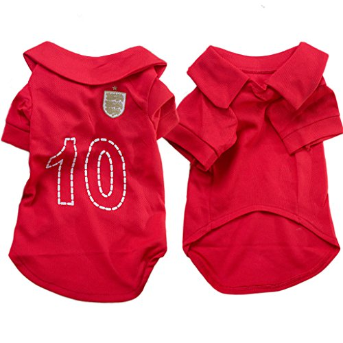 PAWZ Road Pet Dog Soccer Clothes Puppy Football T-shirt Dog Sweater for England Away Sport Jersey