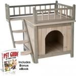 Wooden-Cat-House-Dog-Den-Balcony-Terrace-Maisonette-Kitten-Puppy-Indoor-0