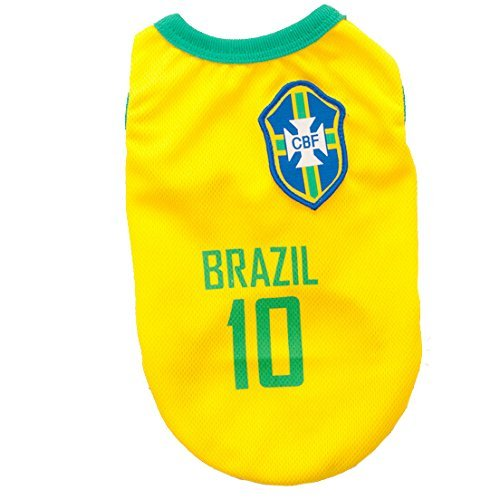 Animally Brazil Shirt for Dogs-Brazilian Football-Dog Pet-Clothes Shirt Apparel-