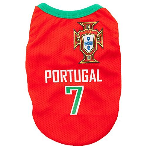 Animally Portugal Shirt for Dogs-Football Dog Pet Clothes Shirt Apparel