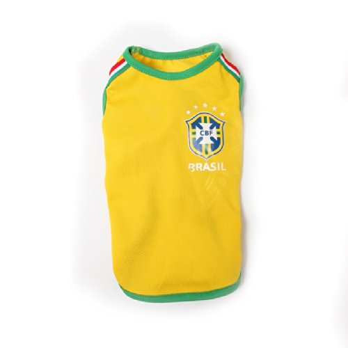 Brazil Dog Puppy World Cup football Shirt XS - XL
