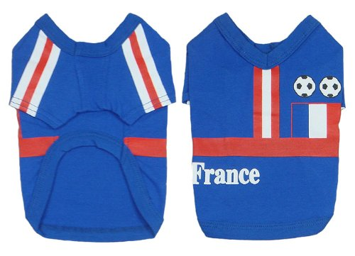 France Dog Football T-Shirt - 6 Sizes