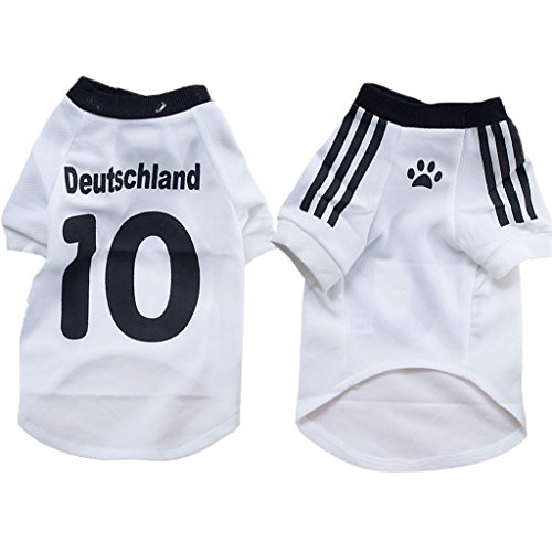 Pawz Road 2014 Soccer World Cup Pet Football T-shirt Dog Sweater Sport Jersey for Germany Deutschland