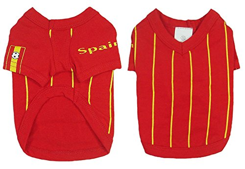 Spain Dog Football T-Shirt - 6 Sizes