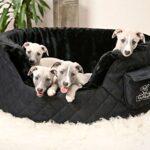 Dog-bed-made-of-5cm-foam-Henry-Brown-Grey-Black-Beige-0