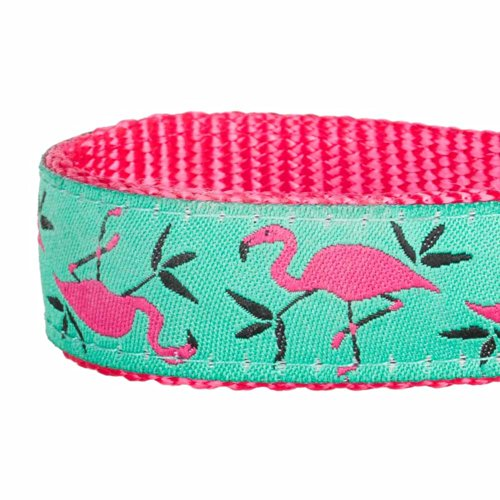 Blueberry Pet Pink Flamingo On Light Emerald Or Red
