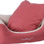 Knuffelwuff-Cosy-Dog-Bed-Lina-Size-M-to-XXXL-Red-0