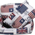 Knuffelwuff Dog Sofa Waterproof Dog Bed Sizes: S-M oder XXL, Black or Flags