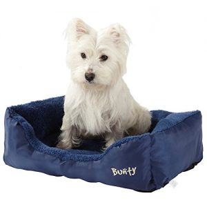 Bunty Deluxe Soft Washable Basket Bed Cushion with Fleece Lining for Dogs