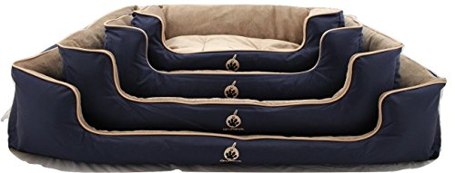 Dog bed. On Paws® 'Sleep Well Lounger'Premium Quality Pet Bed (5 Sizes & Choice ofColoursavailable)DuPontTM Teflon®Protected, Machine washable, Detachable Covers