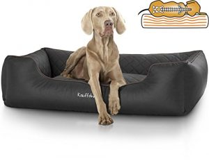 Knuffelwuff Orthopaedic Madison Dog Bed Made of Laser Quilted Synthetic Leather