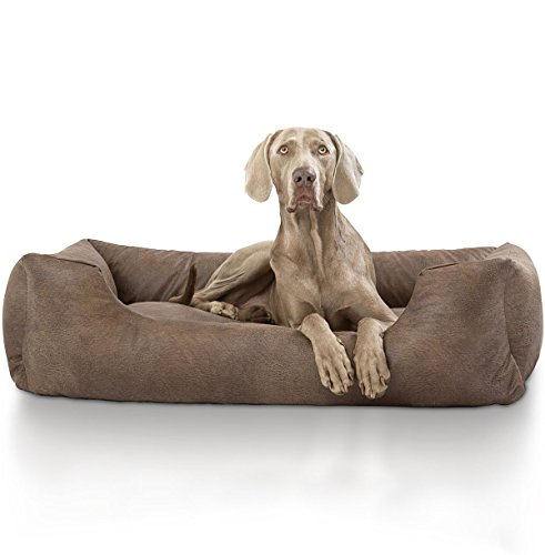 Knuffelwuff Tamino Leather-Design Velour Dog Bed