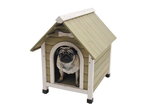 Nobby Wooden Kennel with Pitched Roof for Dog