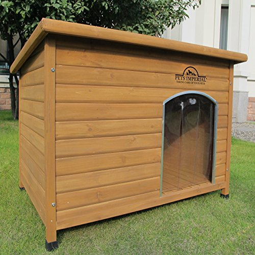Pets Imperial® Extra Large Insulated Norfolk Wooden Dog Kennel With Support Rails and Removable Floor For Easy Cleaning