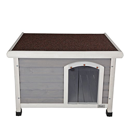 Petsfit Insulated Wooden Dog Kennel With Removable Floor
