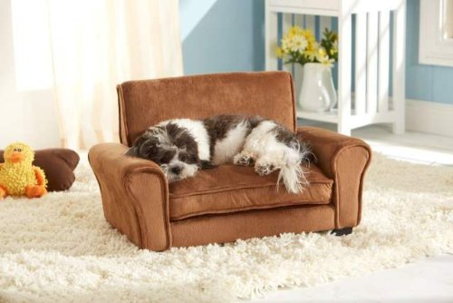 Stunning Ultra Plush Club Dog Sofa Bed Chair BROWN (D34812/H)