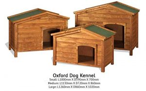 The Hutch Company Oxford Wooden Dog Kennel (Medium) L 113cm x W 72cm x H 86cm