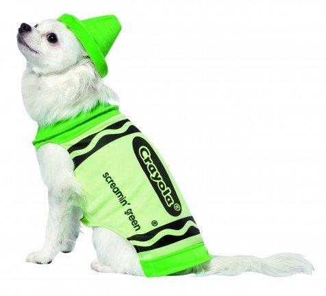 Crayola Green Crayon Dog Costume
